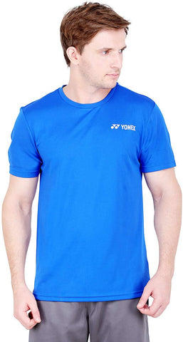 Yonex Tru Dry Round Neck Badminton Sports T-Shirt, Turkish Sea/White - Best Price online Prokicksports.com