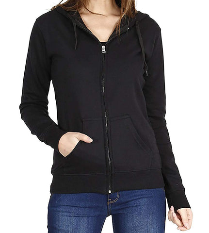 Prokick Women's Cotton Sweatshirt/Hoodie - Black - Best Price online Prokicksports.com