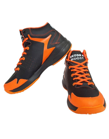 Vector X Boost Basketball Shoes (Black/Orange) - Best Price online Prokicksports.com