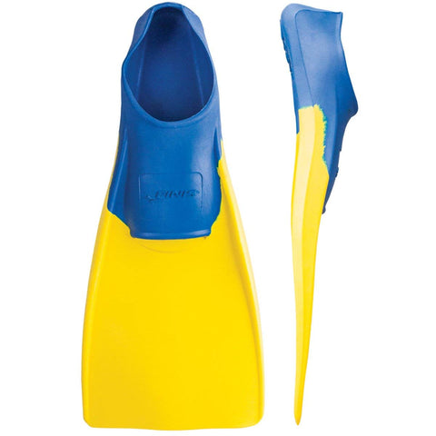 Finis Long Floating Fins (Blue/Yellow) - Prokicksports.com