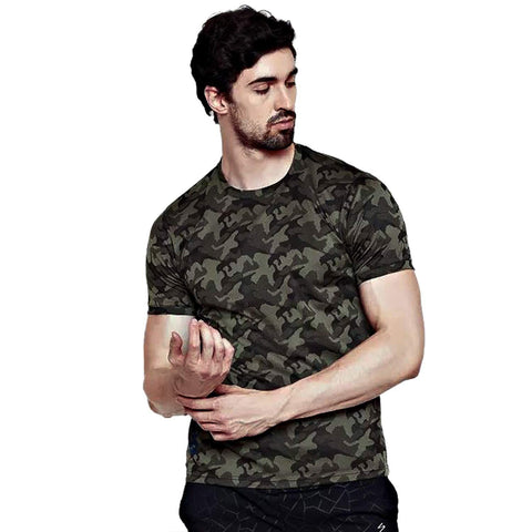 SG RTS2206 Polyester Round Neck Sports T-Shirt - Olive - Best Price online Prokicksports.com