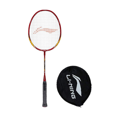 Li-Ning XP 900 Junior Badminton Racquet for Age 4 Yrs to 10 Yrs - Red/Orange (Half Cover) - Best Price online Prokicksports.com