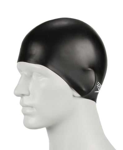 Speedo Unisex-Junior Plain Moulded Silicone Swimcap (Black) - Best Price online Prokicksports.com