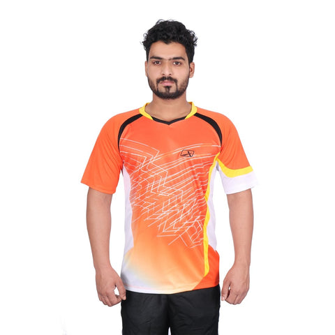 Vector X VRS-007 Polyester Half Sleeves T-Shirt, Men's (Orange) - Best Price online Prokicksports.com