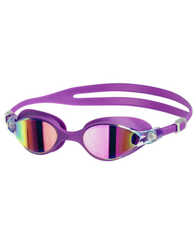 Speedo V-Class Virtue Mirror Swimming Goggles, Adult Free Size (Purple Vibe/Pink) - Prokicksports.com