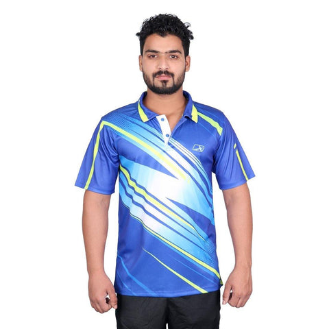 Vector X VRS-002 Polyester Half Sleeves T-Shirt, Men's (Royal) - Best Price online Prokicksports.com