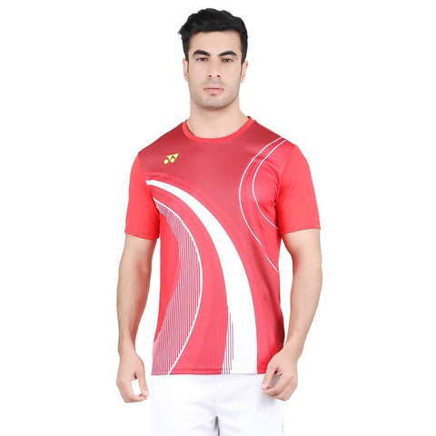 Yonex 1795 Polyester Badminton Choice of Champion Series T-Shirt (High Risk Red) - Best Price online Prokicksports.com