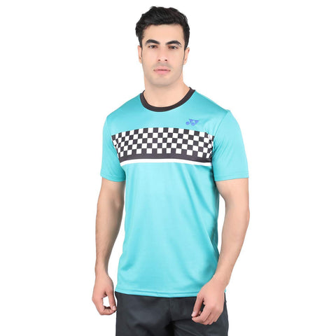 Yonex 1794 Polyester Badminton Choice of Champion Series T-Shirt (Columbia) - Best Price online Prokicksports.com