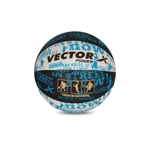 Vector X Power Basketball (Black-White-Blue) - Best Price online Prokicksports.com