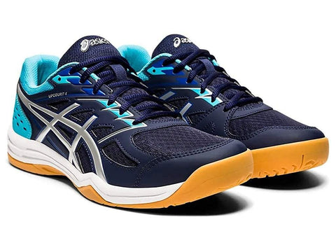 ASICS Men's Upcourt 4 Indoor Court Shoes Peacoat/Pure Silver - Best Price online Prokicksports.com