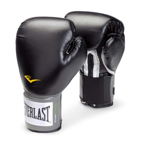 Everlast Pro Style Elite Training Boxing Gloves (Black, 12oz) - Best Price online Prokicksports.com