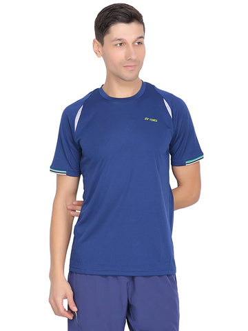 Yonex Tru Cool Sweat Free Round Neck Badminton Sports T-Shirt (Navy Peony) - Best Price online Prokicksports.com