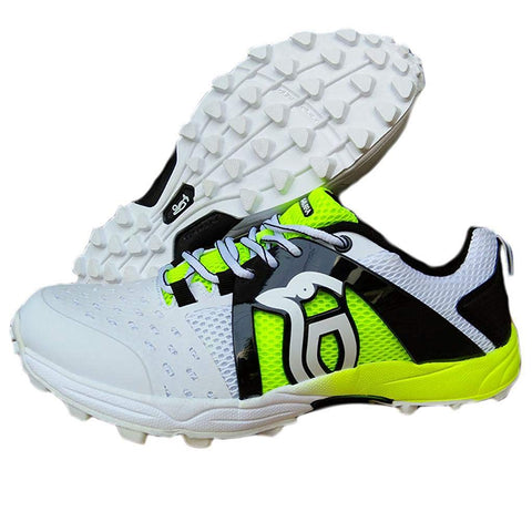 Kookaburra Cricket Shoes Rubber, Fluo Yellow - Best Price online Prokicksports.com