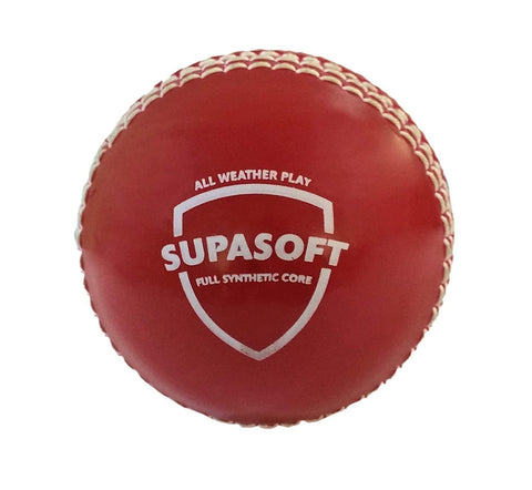 SG Synthetic Cricket Ball - Supasoft, Red - Prokicksports.com