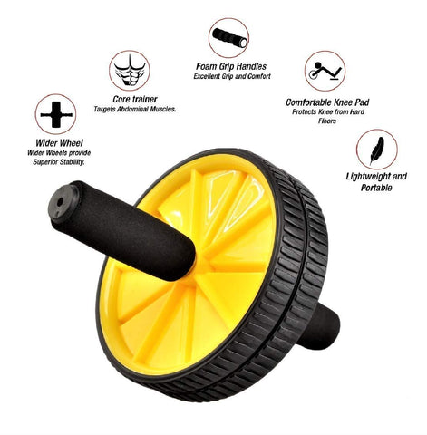 Prokick Double Ab Wheel Roller Core Abdominal Workout - Best Price online Prokicksports.com