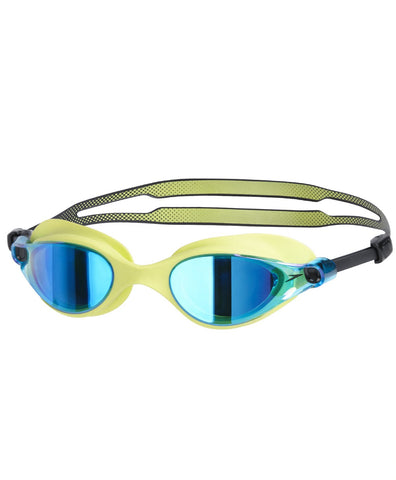 Speedo Vue Mirror AU V-Class Blend Swimming Goggle, Free Size Green/Blue - Prokicksports.com