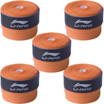 Li-Ning GP-20 Badminton Racquet Grip, Set of 5 - Orange - Best Price online Prokicksports.com
