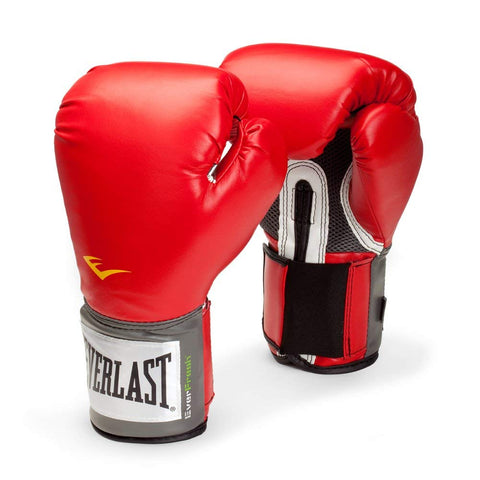 Everlast Pro Style Training Boxing Gloves (Red) - Prokicksports.com
