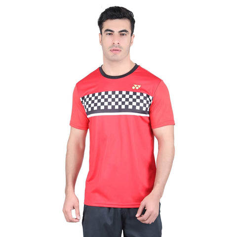 Yonex 1794 Polyester Badminton Choice of Champion Series T-Shirt (High Risk Red) - Best Price online Prokicksports.com