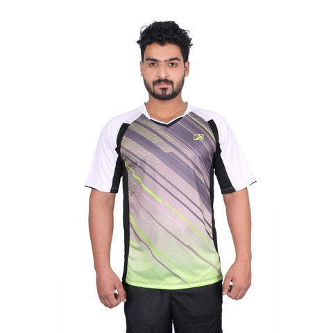 Vector X VRS-004 Polyester Half Sleeves T-Shirt, Men's (Black/White) - Best Price online Prokicksports.com