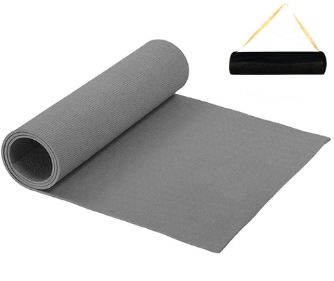 Prokick Anti Skid EVA Yoga Mat for Men and Women - 6MM - Grey - Best Price online Prokicksports.com
