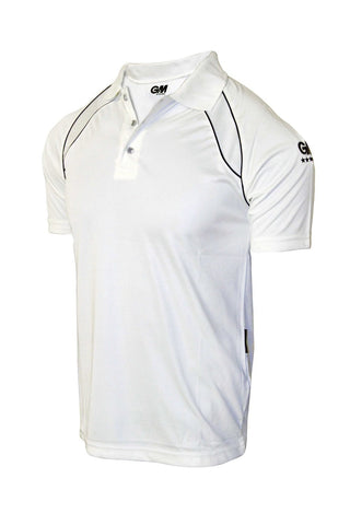 GM 7205 Half Sleeve Cricket T-Shirt (White/Navy) - Best Price online Prokicksports.com