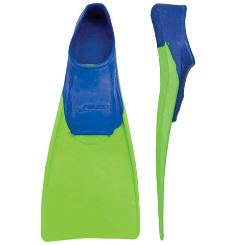 Finis Long Floating Fin, Junior Size 8-11 (Blue/Lime Green) - Best Price online Prokicksports.com