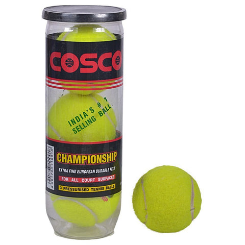Cosco Championship Tennis Ball (Pack of 3) - Best Price online Prokicksports.com