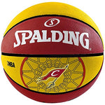 Spalding Team Cavaliers Basketball - Size: 7, Diameter: 24.25 cm Red/Yellow - Best Price online Prokicksports.com