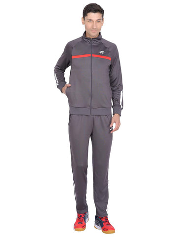 Yonex Sports Polyester Tracksuit for Men's (Grey/Red) - Best Price online Prokicksports.com