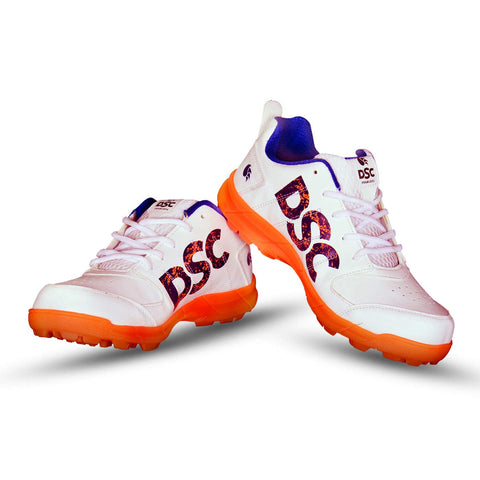 DSC Beamer Cricket Studs Shoes (Fluro Orange/White) - Best Price online Prokicksports.com