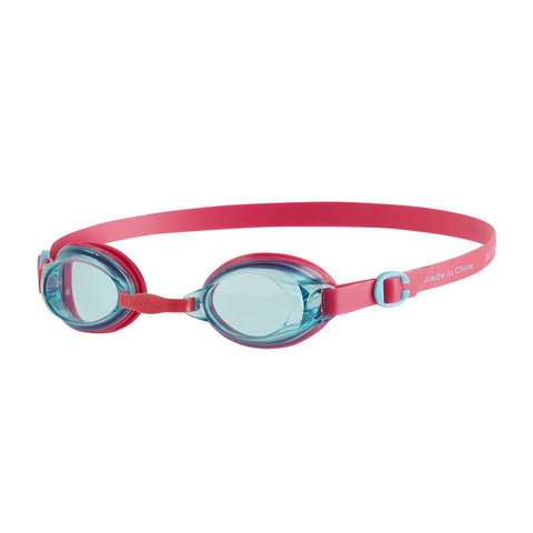 Speedo Junior Jet Swimming Goggles, Kids Free Size (Ecstatic Pink/Aquatic) - Prokicksports.com