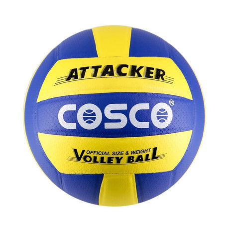 Cosco Attacker Volleyball- Blue & Yellow Size 4 Volleyball - Best Price online Prokicksports.com