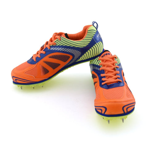 Vector X Bolt Spike Running Shoes - Orange/Blue/Lime - Best Price online Prokicksports.com