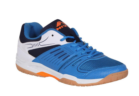 NIVIA 147BW08 Polyester Gel Verdict Badminton Shoes (Blue) - Best Price online Prokicksports.com
