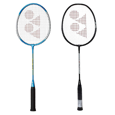 Yonex Bestsellers Badminton Racquet, Set of 2 - Ideal for beginners and intermediate level players (Blue - Black) - Best Price online Prokicksports.com