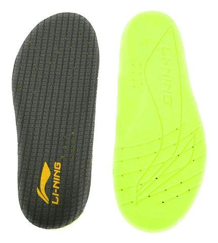 Li-ning Super Comfortable Shoes Insole -Grey-Lime - Best Price online Prokicksports.com