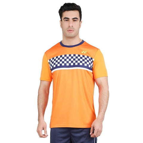 Yonex 1794 Polyester Badminton Choice of Champion Series T-Shirt (Oriole) - Best Price online Prokicksports.com