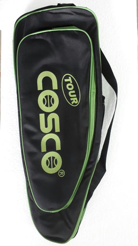Cosco Tour Racket Kit Bag (Black/Lime) - Best Price online Prokicksports.com