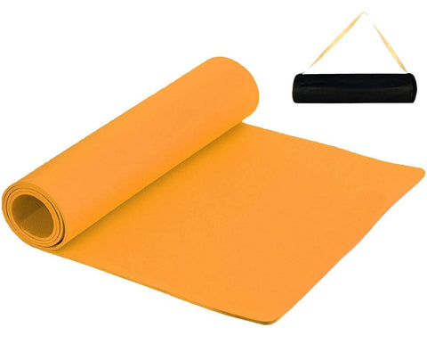 Prokick Anti Skid EVA Yoga Mat for Men and Women - 6MM - Orange - Best Price online Prokicksports.com