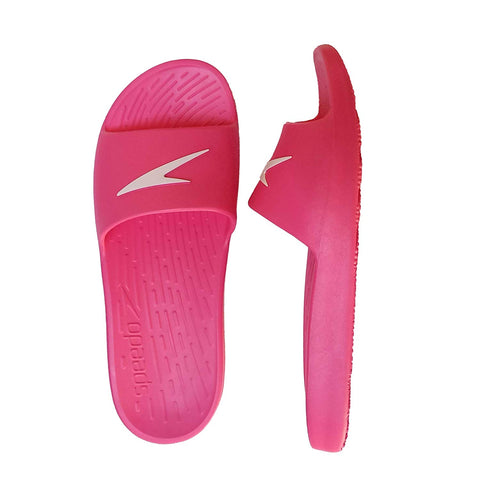 Speedo Extra-Light Water Resistant Swimming Junior Slippers - Unisex (Electric Pink/White) - Prokicksports.com