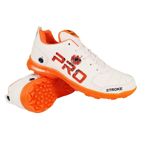 Prokick Pro Rubber Spikes Cricket Shoes Orange - for All Ages - Best Price online Prokicksports.com