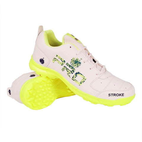Prokick Pro Rubber Spikes Cricket Shoes Lime - for All Ages - Best Price online Prokicksports.com