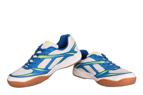Nivia Super Court BD 192 Badminton Shoes (White/Blue) - Best Price online Prokicksports.com