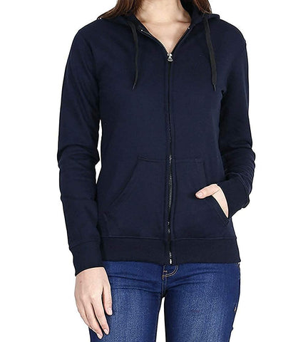 Prokick Women's Cotton Sweatshirt/Hoodie - Navy - Best Price online Prokicksports.com