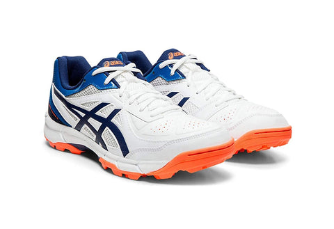 Asics Peake 5 Junior Cricket Shoes, White/Blue Expanse - Best Price online Prokicksports.com