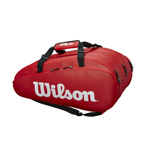 Wilson Tour 3 Compartment 15PK Tennis KIT Bag, Red - Best Price online Prokicksports.com