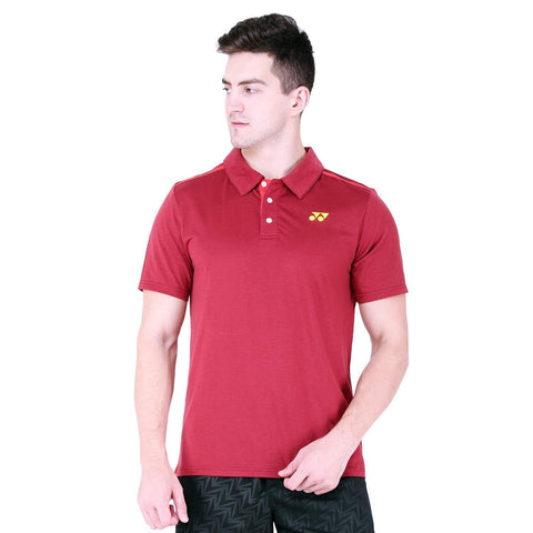 YONEX 1282B-31 Polyester Badminton Mens Polo T-Shirt, Small (Ruby Wine) - Best Price online Prokicksports.com