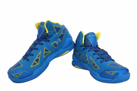 Nivia Typhoon Basketball Shoes, (Aster Blue/Yellow) - Best Price online Prokicksports.com