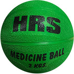 HRS Rubber Medicine Ball, 2 kg (without handle), Green - Best Price online Prokicksports.com